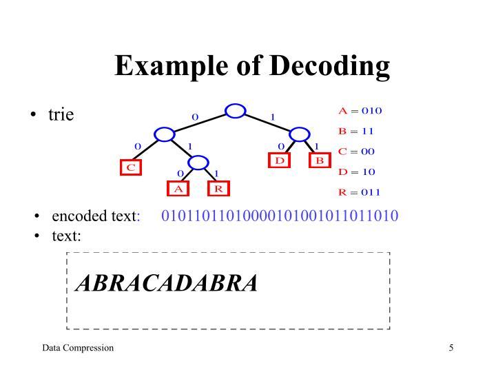 Example of Decoding