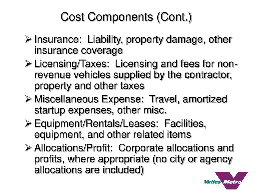 Cost Components (Cont.)