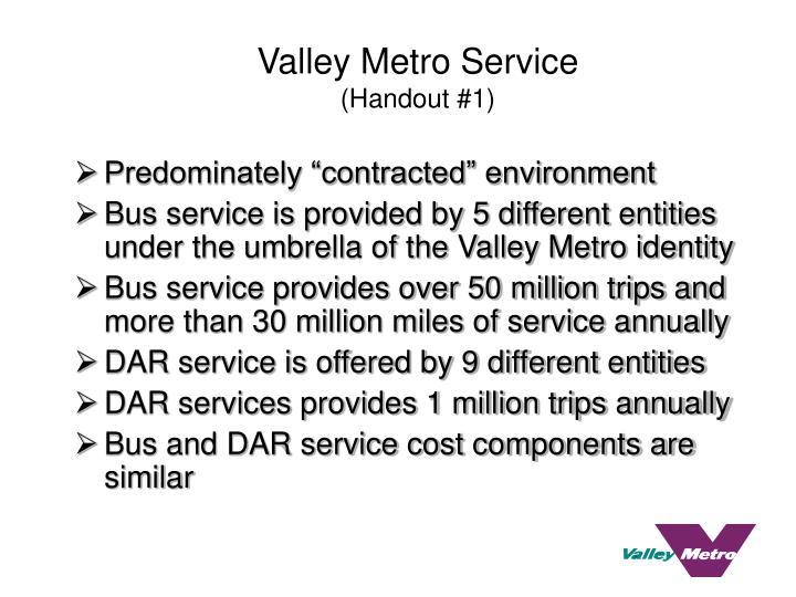 Valley metro service handout 1