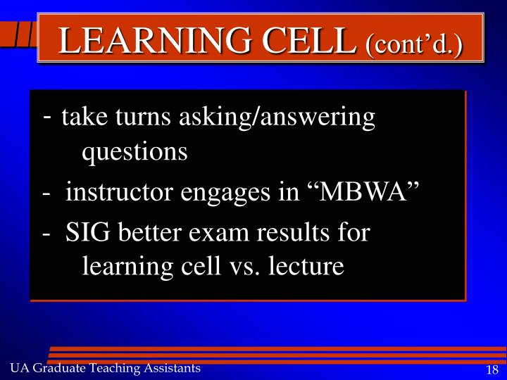 LEARNING CELL