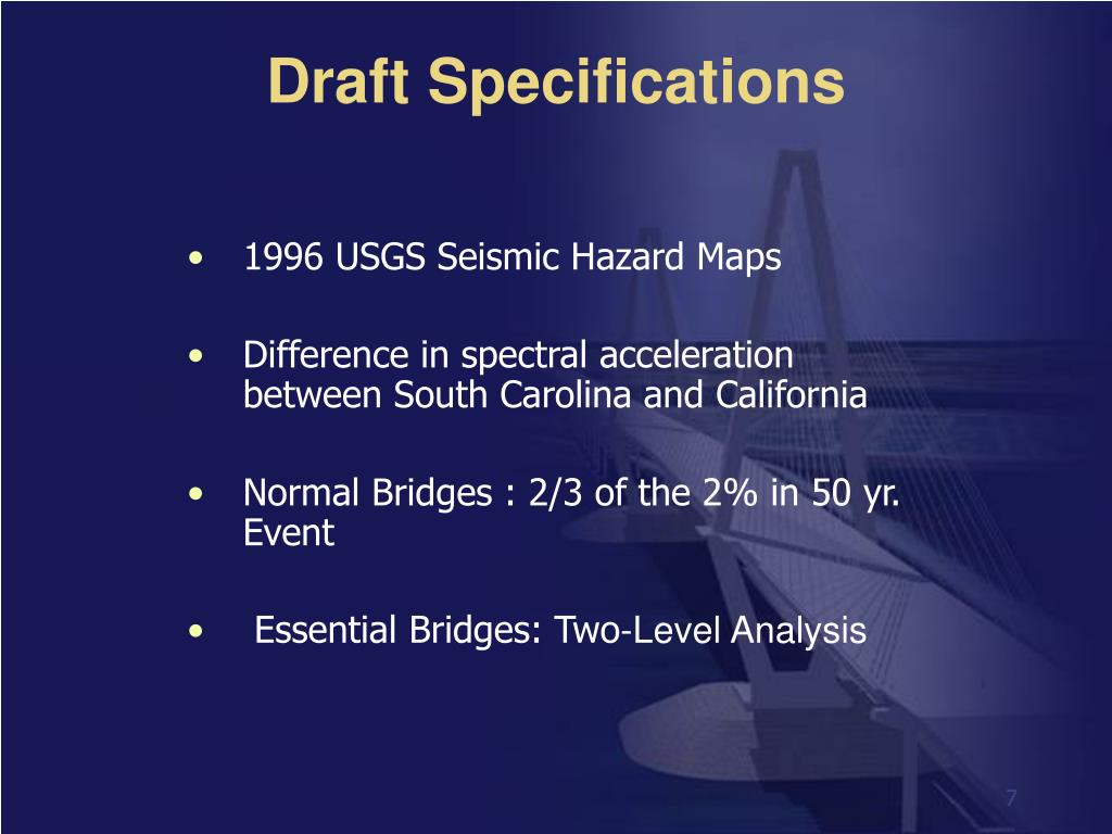 Draft Specifications
