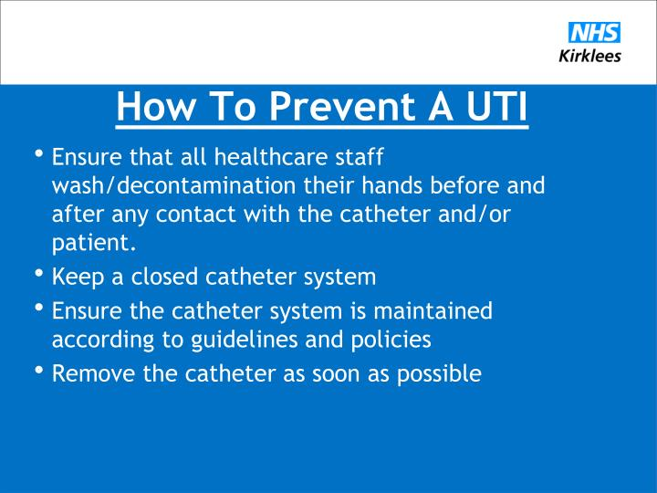 How To Prevent A UTI