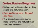 contractions and negatives4
