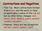 contractions and negatives7