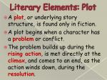 literary elements plot