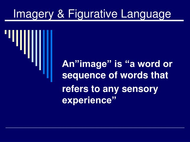 imagery figurative language