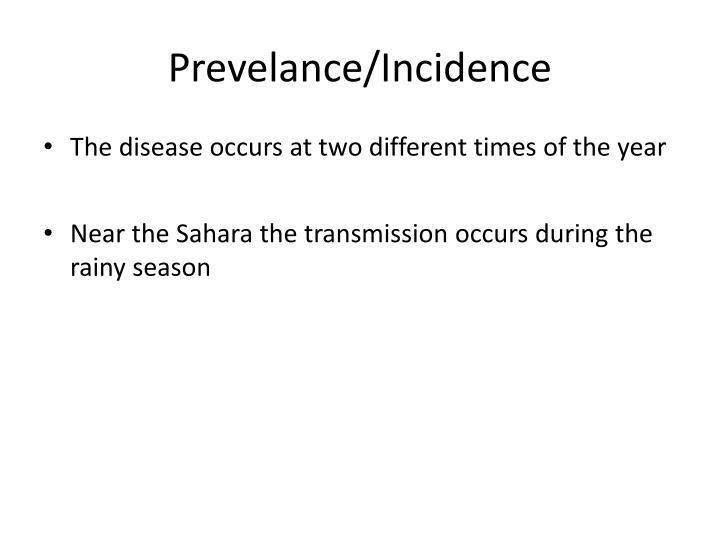 Prevelance/Incidence