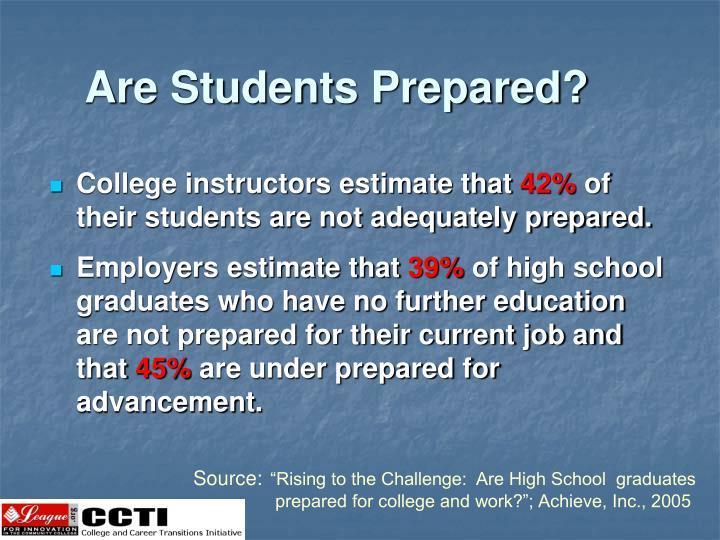 Are Students Prepared?
