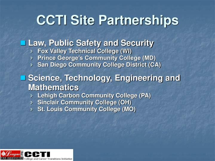 CCTI Site Partnerships