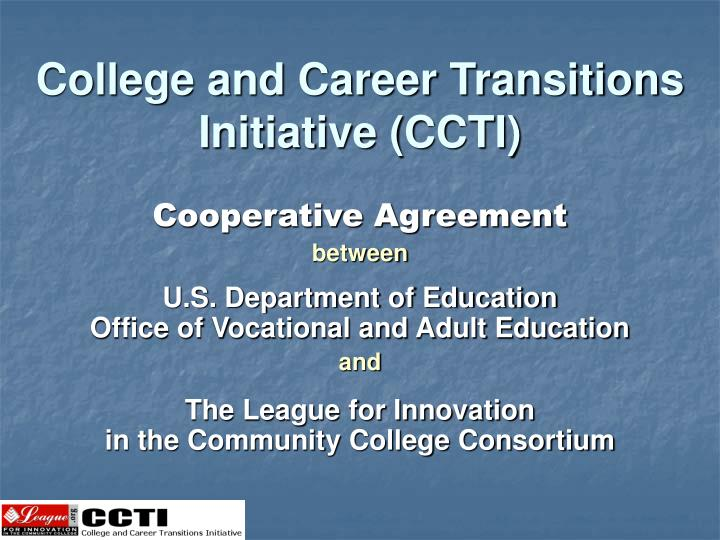 College and Career Transitions Initiative (CCTI)