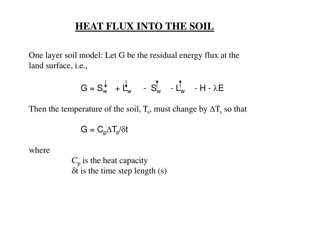 HEAT FLUX INTO THE SOIL