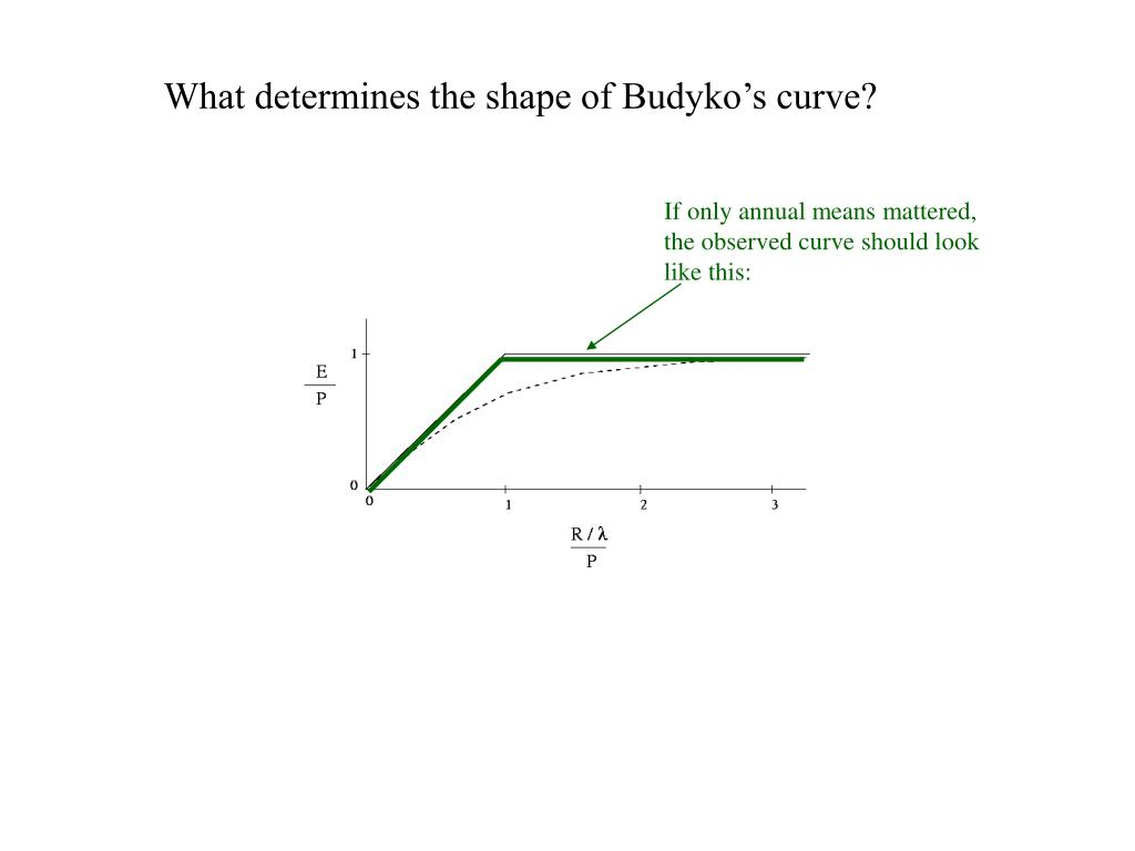 What determines the shape of Budyko's curve?