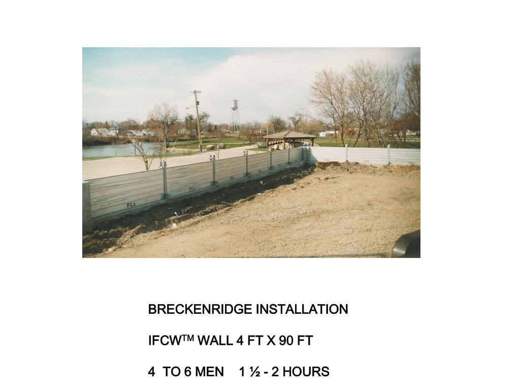 BRECKENRIDGE INSTALLATION