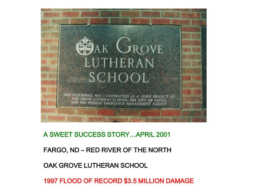 A SWEET SUCCESS STORY…APRIL 2001