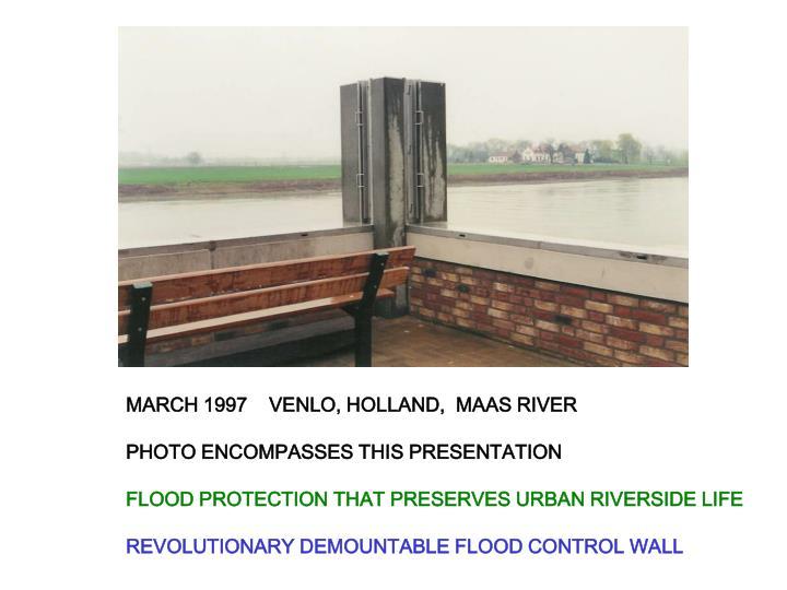 MARCH 1997    VENLO, HOLLAND,  MAAS RIVER