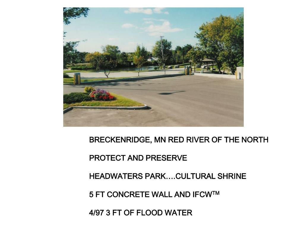BRECKENRIDGE, MN RED RIVER OF THE NORTH