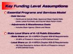key funding level assumptions3