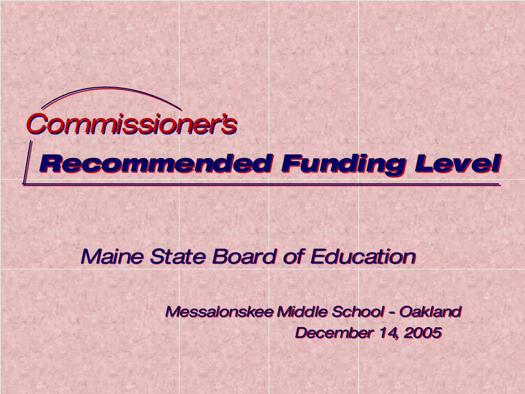 Commissioner's
