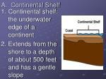 a continental shelf