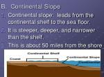b continental slope