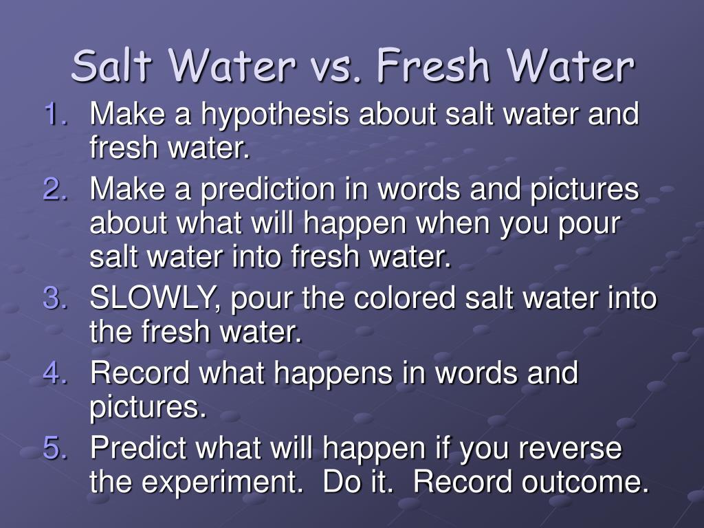 salt water vs fresh water l.