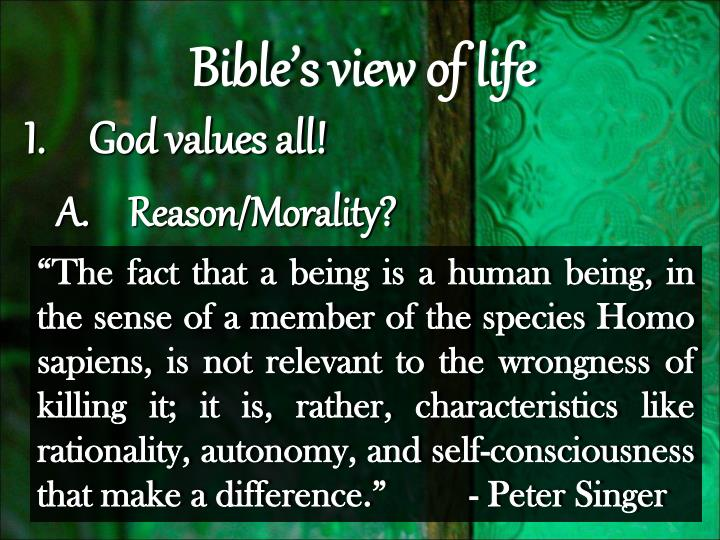 my values and god God is the only imaginable justification for any objective moral values and duties all those values based on human feelings, which include all the then your explanation will have to show how god's existence results in the existence of objective moral values and duties when you have done those.