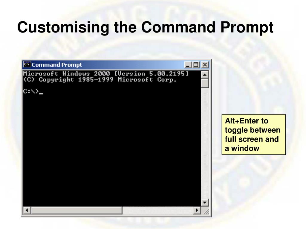 Customising the Command Prompt