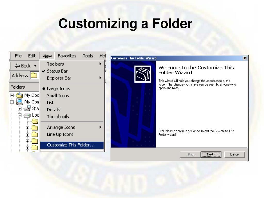 Customizing a Folder