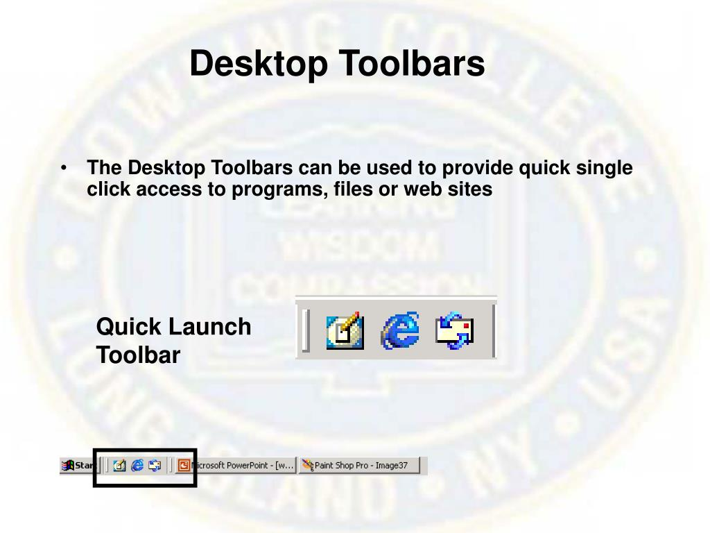 Desktop Toolbars