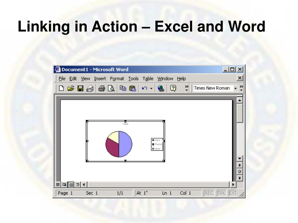 Linking in Action – Excel and Word