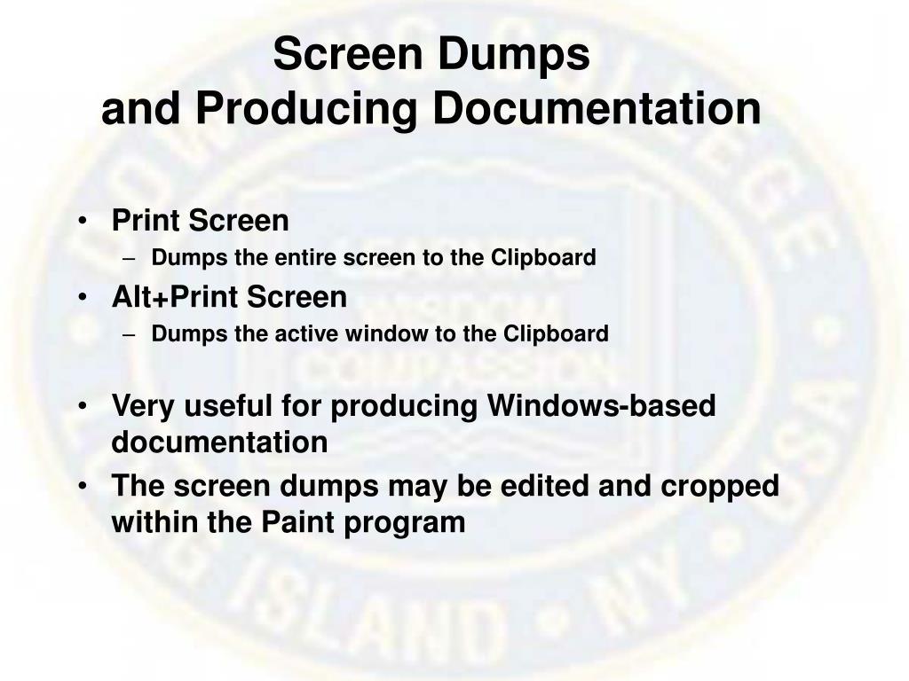 Screen Dumps