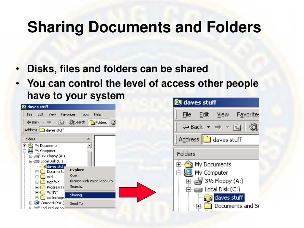 Sharing Documents and Folders