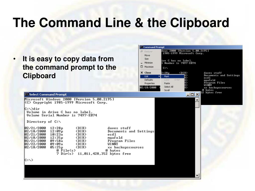 The Command Line &