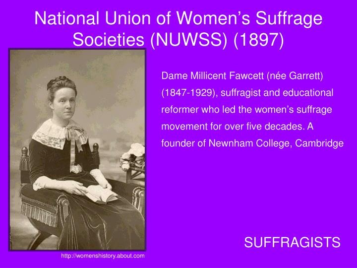 National Union of Women's Suffrage Societies (NUWSS) (1897)