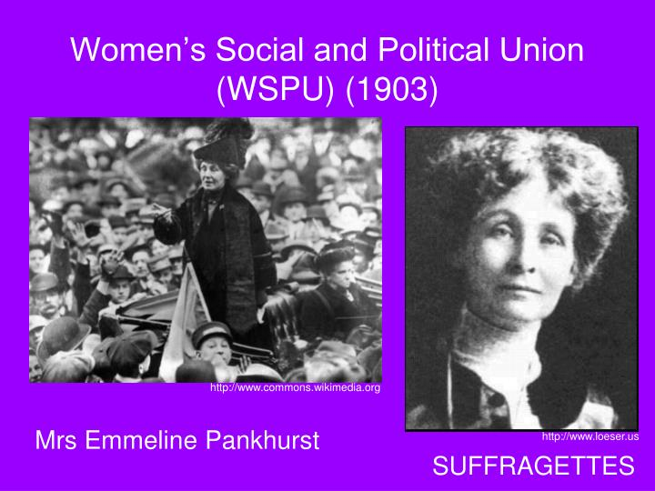 Women's Social and Political Union (WSPU) (1903)
