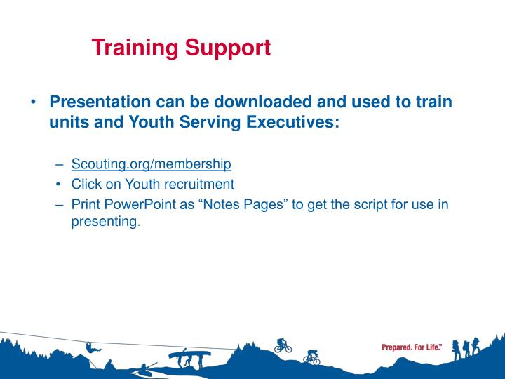 Training support