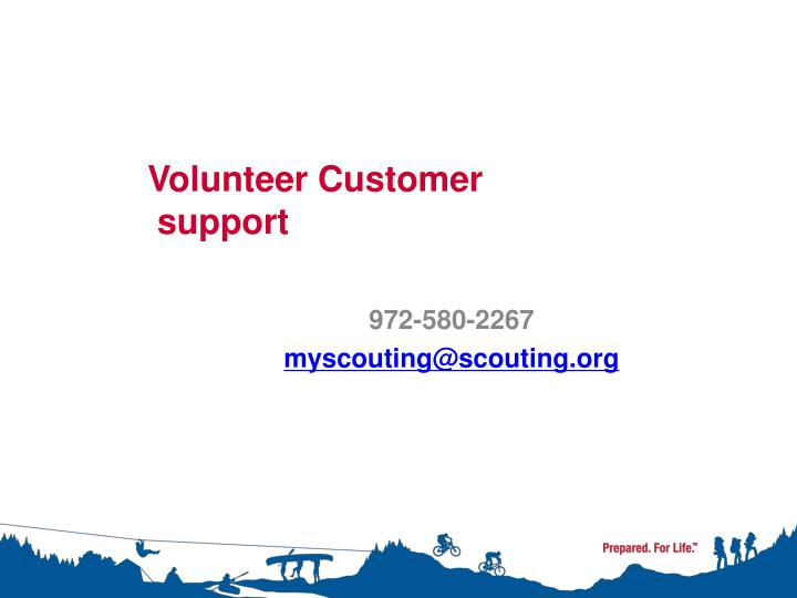 Volunteer Customer