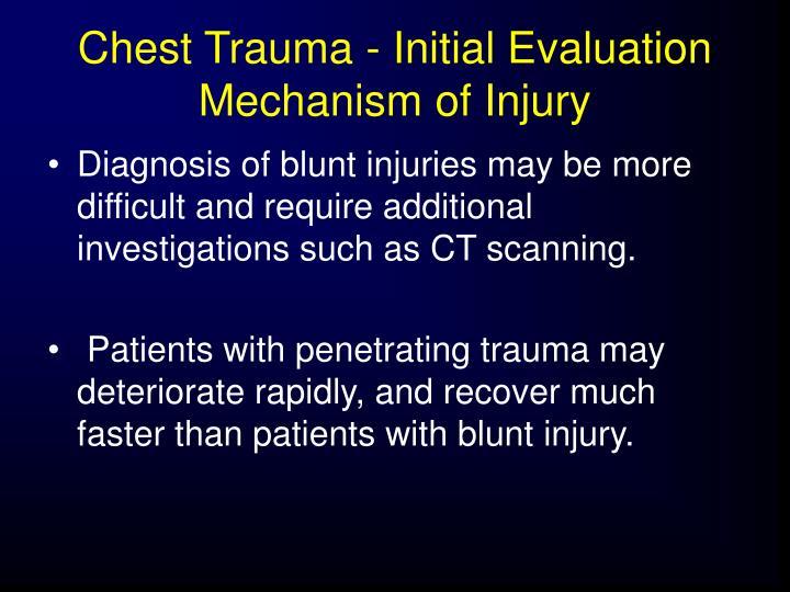 Chest Trauma - Initial Evaluation