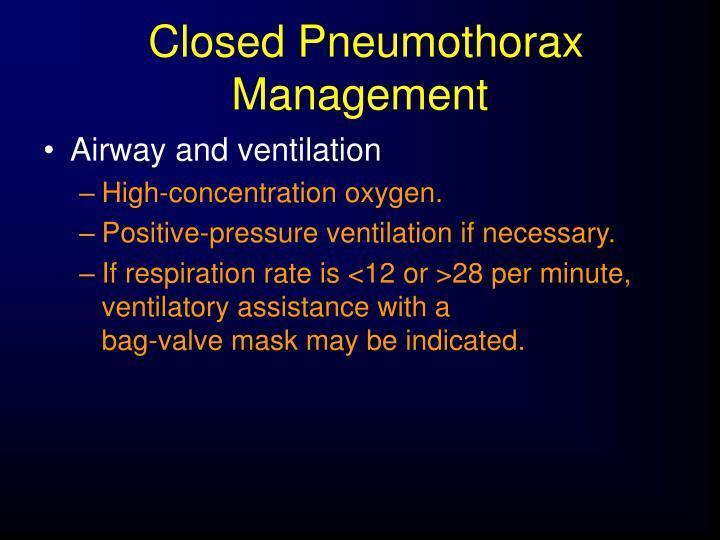Closed Pneumothorax