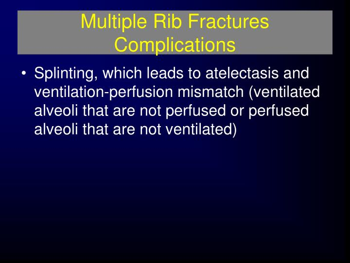 Multiple Rib Fractures Complications