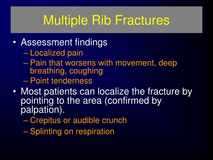 Multiple Rib Fractures