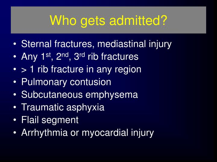 Who gets admitted?
