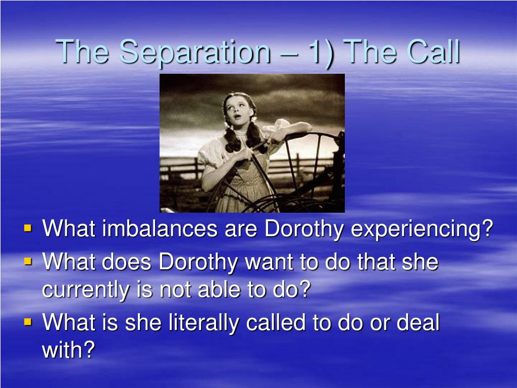 The Separation – 1) The Call