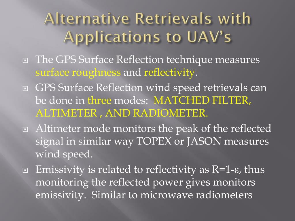 Alternative Retrievals with Applications to UAV's