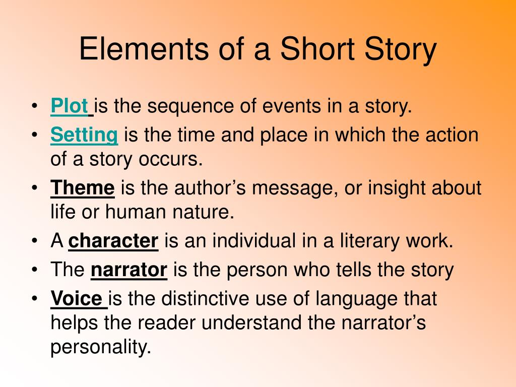Elements Of A Short Story Powerpoint Ppt Presentation