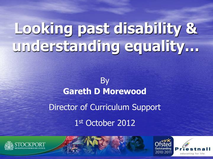 looking past disability understanding equality n.