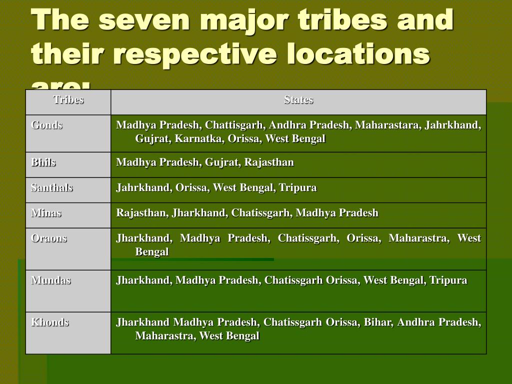 PPT - PERSPECTIVE PAPER ON TRIBALS PowerPoint Presentation - ID:1378395