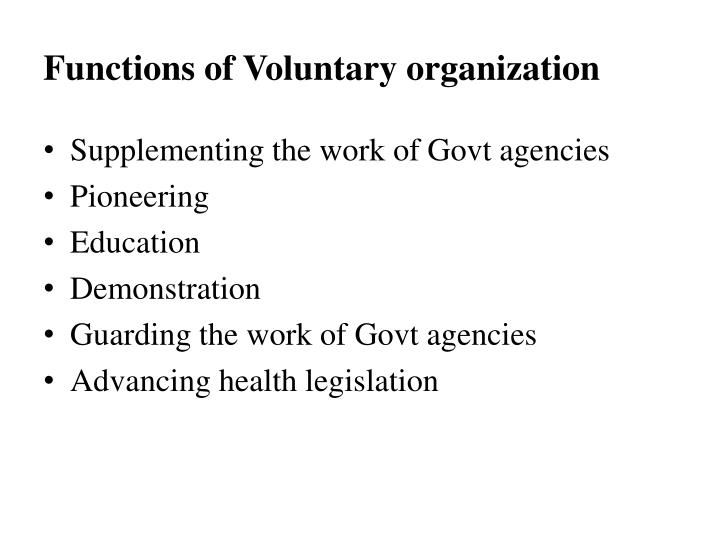 voluntary functions