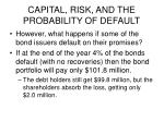 capital risk and the probability of default3