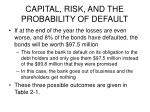 capital risk and the probability of default4